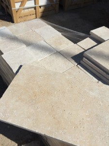 Cross cut light mix travertine tumbled