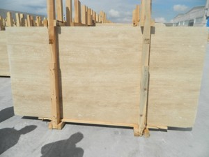 Vein cut light travertine slab honed filled finish (3)