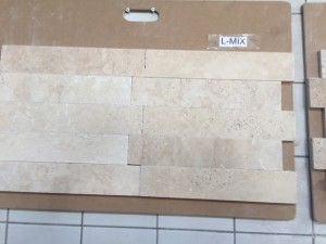 Light Mix Travertine Tumbled Bricks