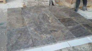 Cross cut silver travertine tumbled finish (6)