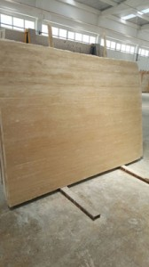 Vein cut classic travertine polished filled finish